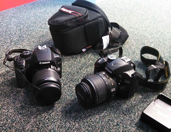 Best Things In Thrift Stores 12.99 nikon D3200 999 and cannon eos rebel xs