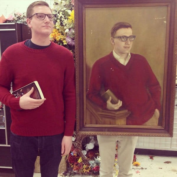 Best Things In Thrift Stores painting looks similar to guy in real life