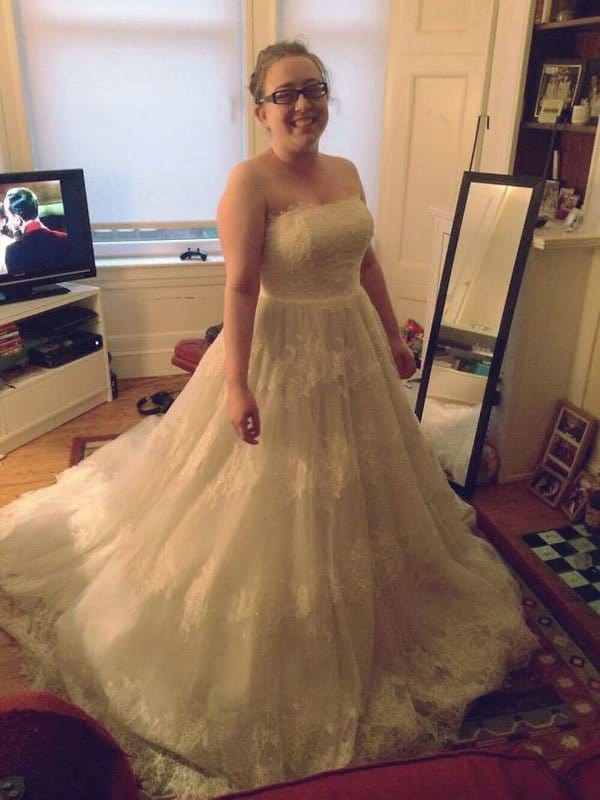 People who found the best things in thrift stores flea for Wedding dress thrift shop