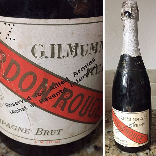 Best Things In Thrift Stores ww2 champagne garage sale