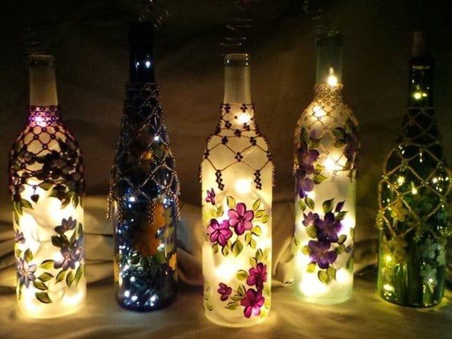 Bottle Project Ideas festive lights