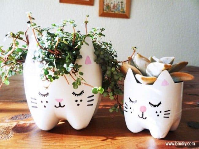Bottle Project Ideas flowerpots
