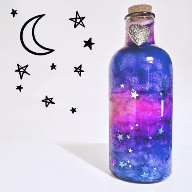 Bottle Project Ideas galaxy in a bottle