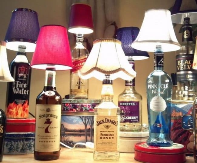Bottle Project Ideas lamps