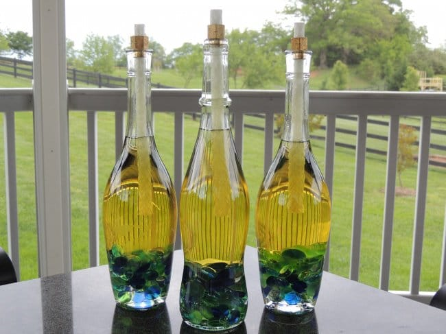 Bottle Project Ideas mosquito candles