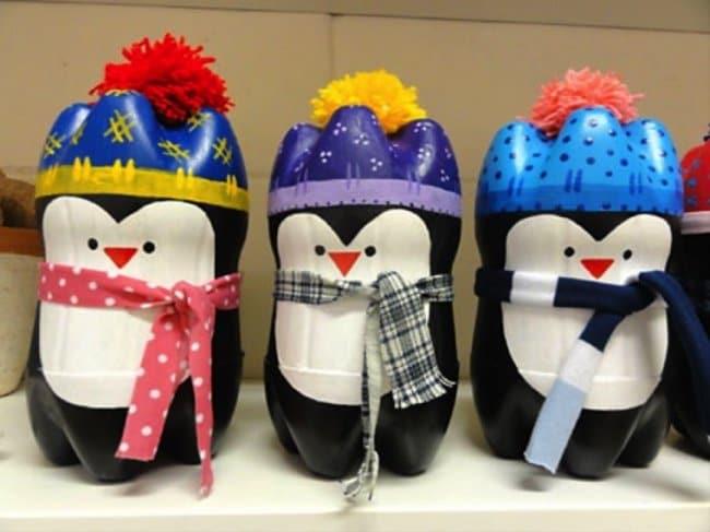 Bottle Project Ideas penguins