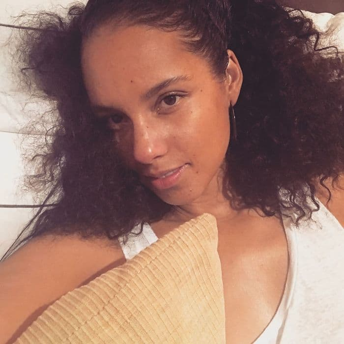 Celebrities Without Make Up alicia keys