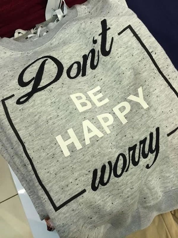 Clothing Disasters dont be happy worry