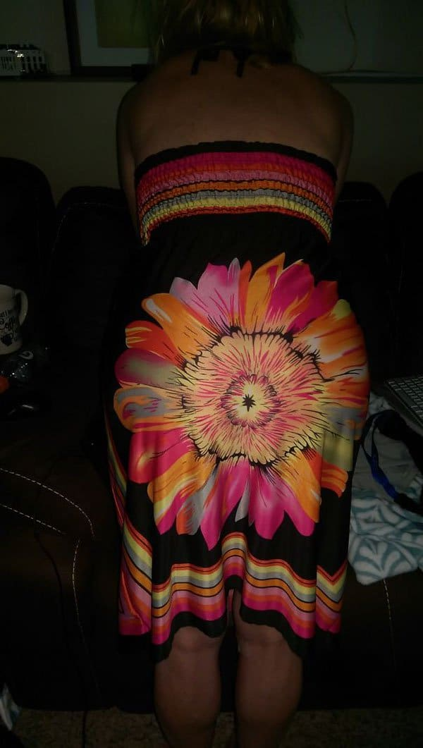 Clothing Disasters flower dress bum
