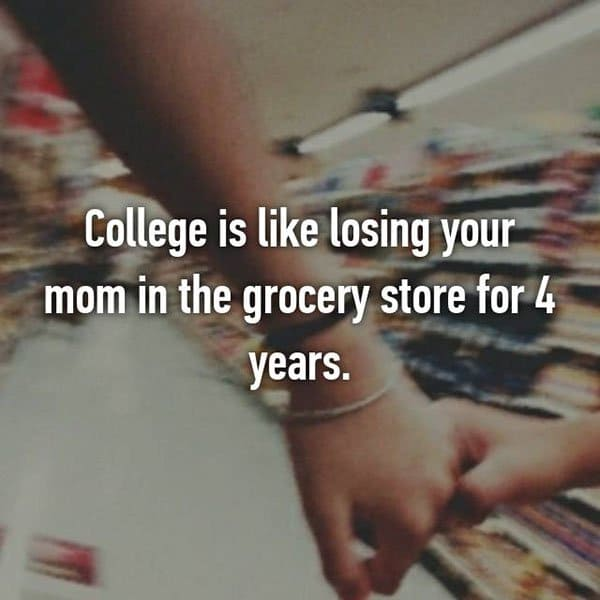 College Student Things college is losing your mom