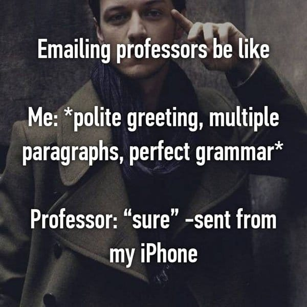College Student Things emailing teachers