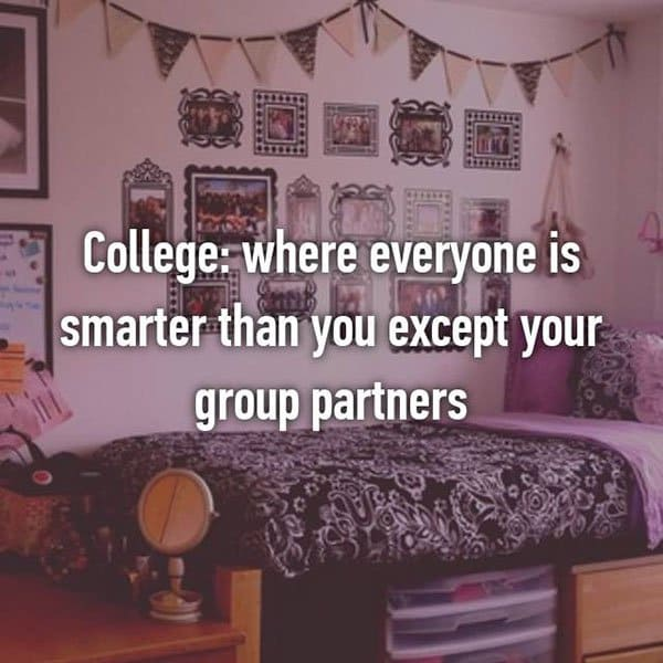 College Student Things everyone is smarter than you