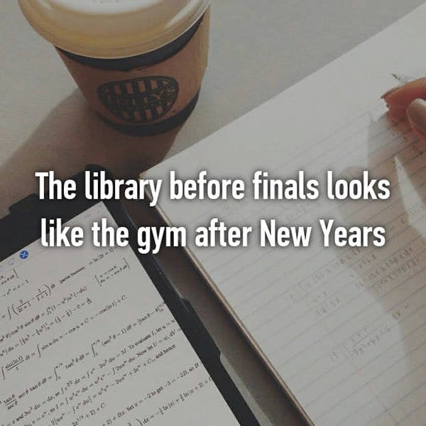 College Student Things library new year