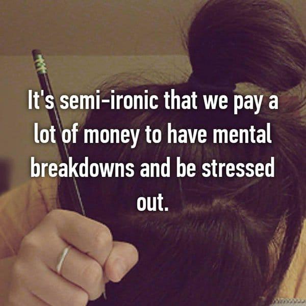 College Student Things mental breakdowns