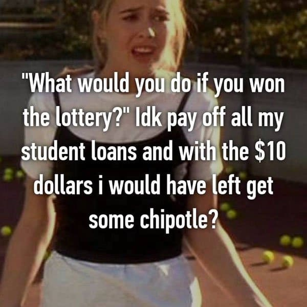 College Student Things pay off debts