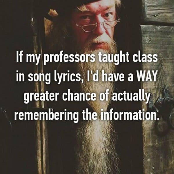 College Student Things taught class in lyrics