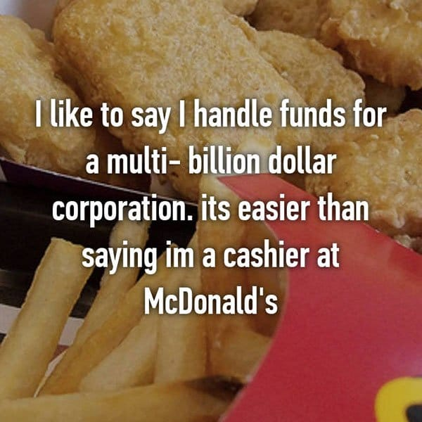 Confessions From Fast Food Workers cashier at mcdonalds