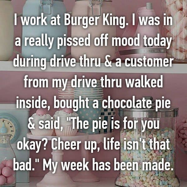 Confessions From Fast Food Workers cheer up