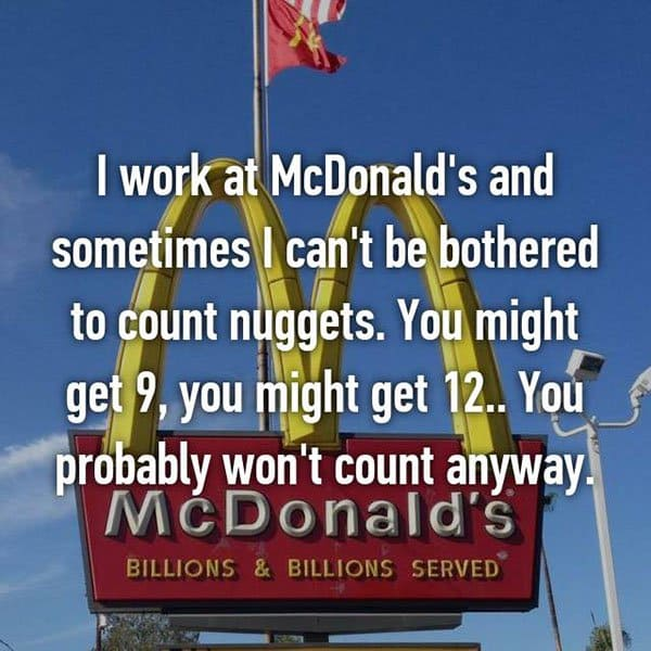 Confessions From Fast Food Workers count nuggets