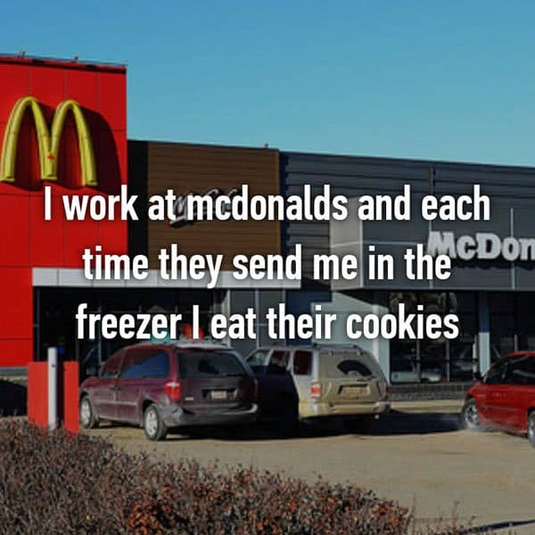 Confessions From Fast Food Workers eat their cookies