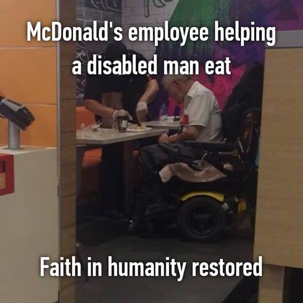 Confessions From Fast Food Workers faith in humanity restored