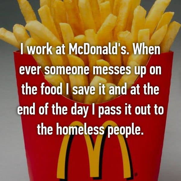 Confessions From Fast Food Workers homeless people