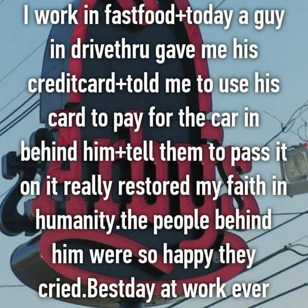 Confessions From Fast Food Workers pass it on
