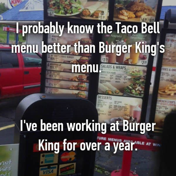 Confessions From Fast Food Workers taco bell menu