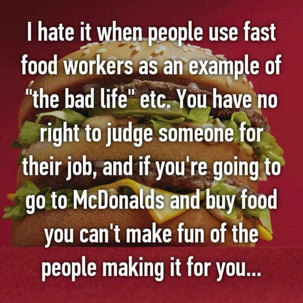 Confessions From Fast Food Workers the bad life