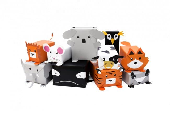 Cool Packaging Designs animal gift wrap selection