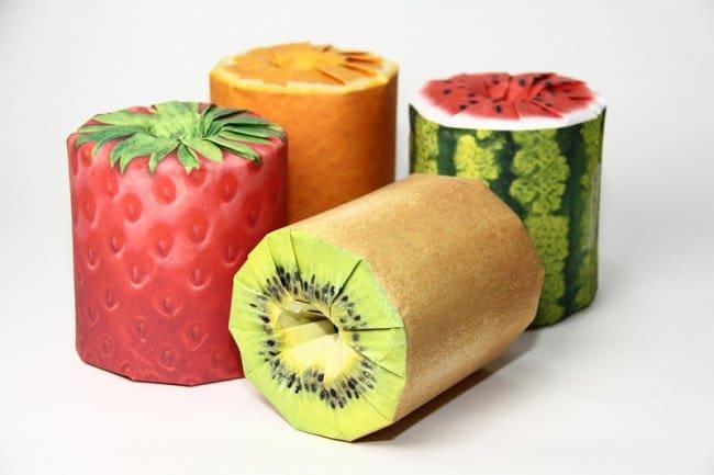 Cool Packaging Designs fruit toilet paper