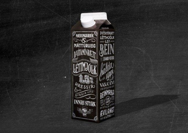Cool Packaging Designs milk jack daniels style