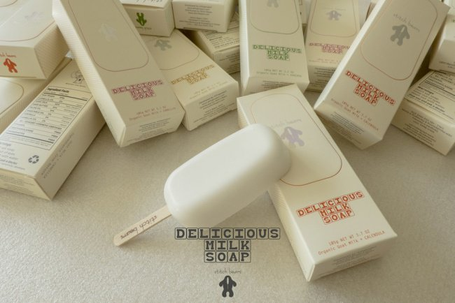 Cool Packaging Designs milk soap on popsicle