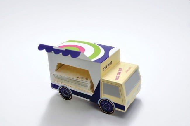 Cool Packaging Designs sticky note van