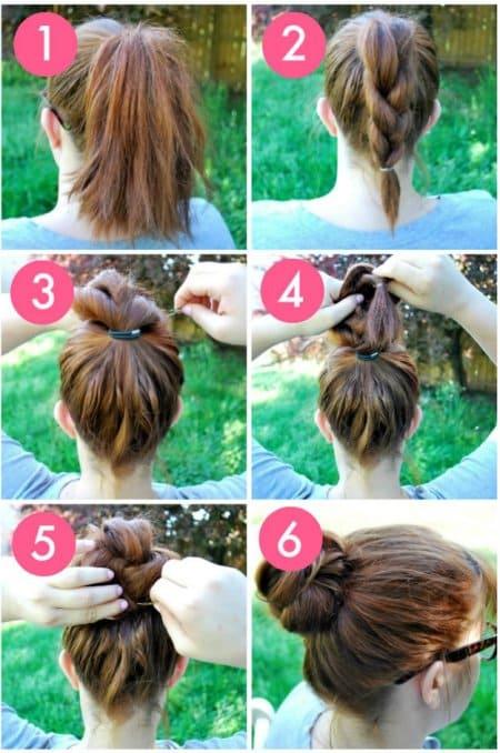 Easy Hairstyles braided bun