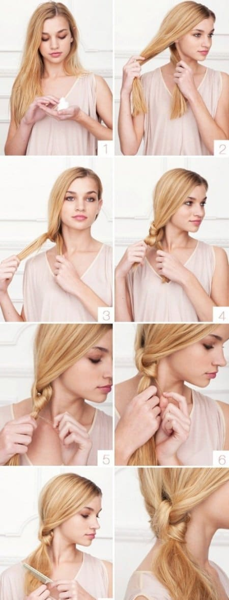 Easy Hairstyles knotted ponytail