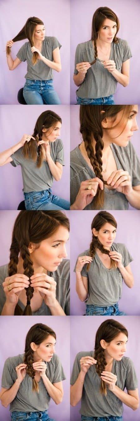 Easy Hairstyles mermaid tail braid