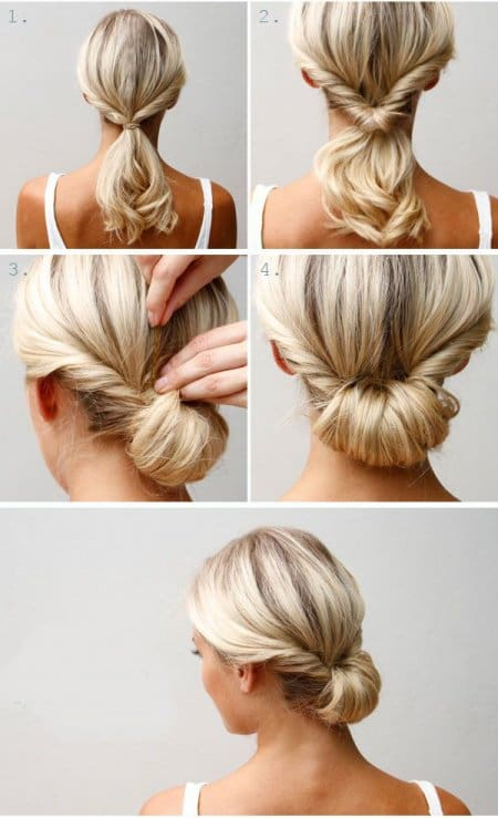 Easy Hairstyles simple chignon