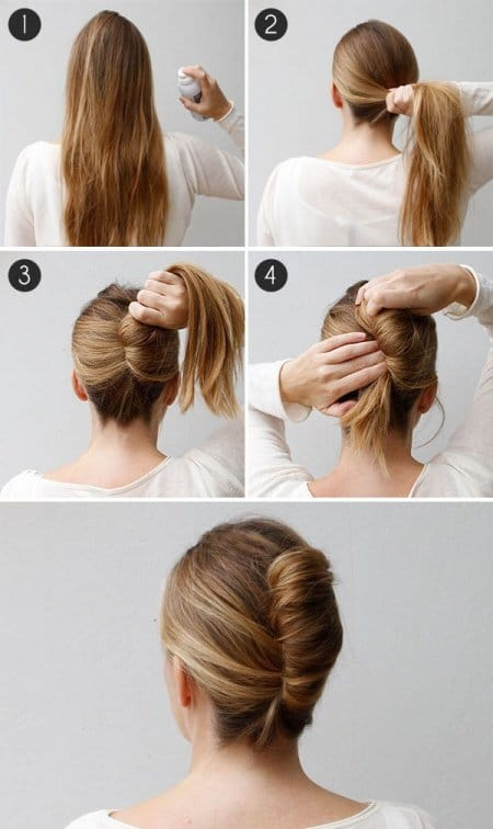 Easy Hairstyles the french twist