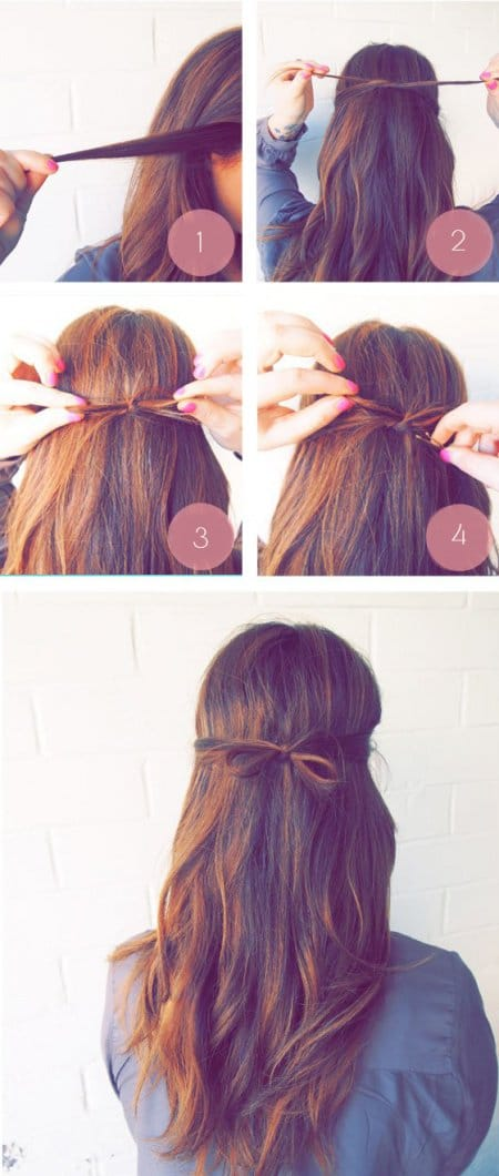 Easy Hairstyles the hair bow