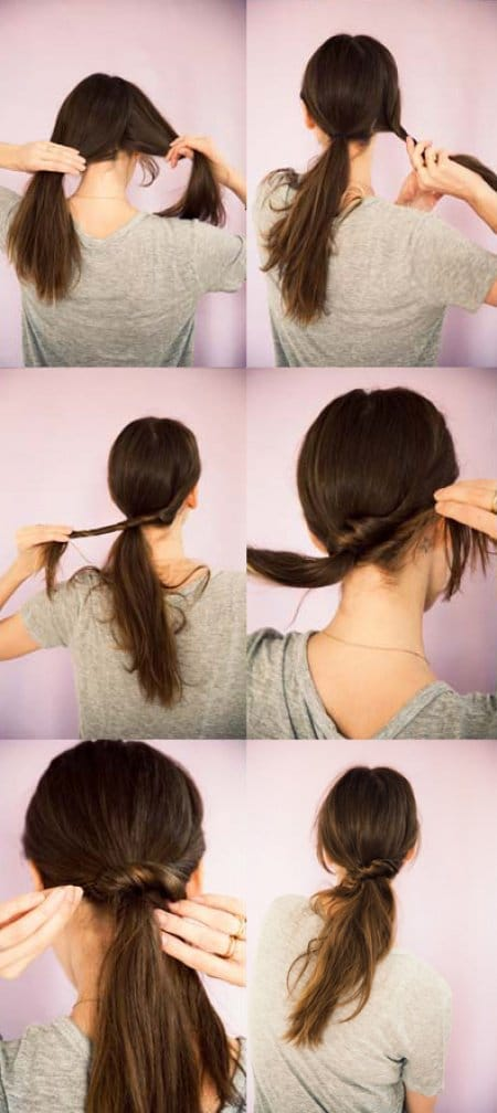 Easy Hairstyles the twisted ponytail
