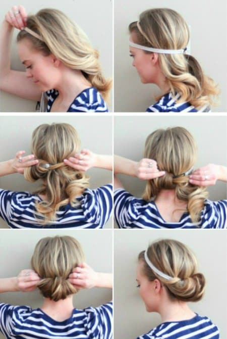 Easy Hairstyles two minute tuck
