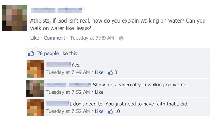 Facepalm Moments if god isnt real