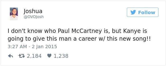 Facepalm Moments kanye give paul mccartney a career