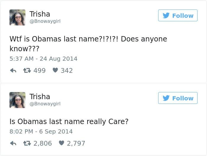 Facepalm Moments what is obamas last name