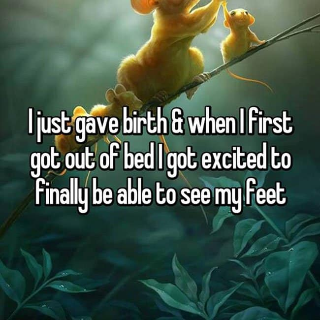 First Thoughts After Giving Birth exited to see my foot