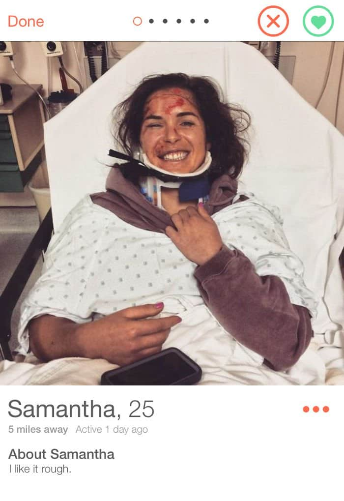 Funny Tinder Profiles I Like It Rough