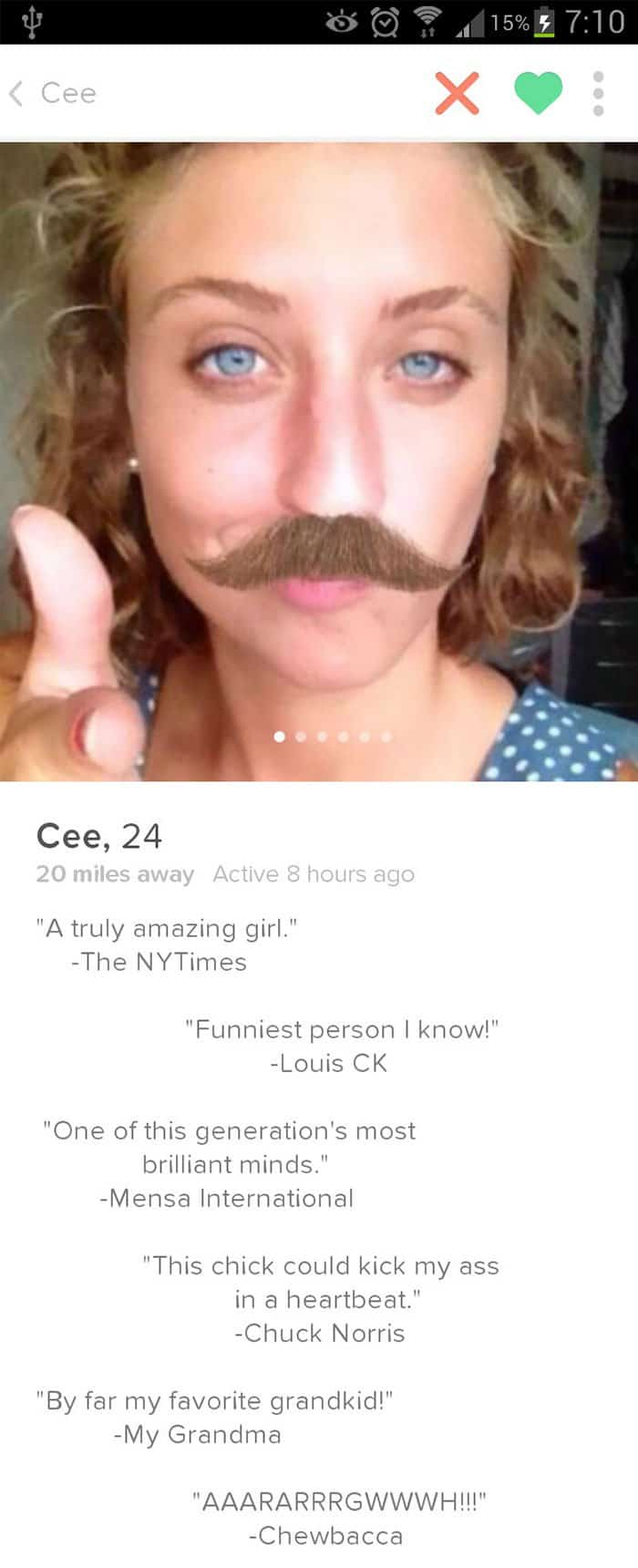 Hilarious girl dating profile