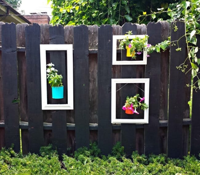 Garden Fence Ideas plant pot with frame
