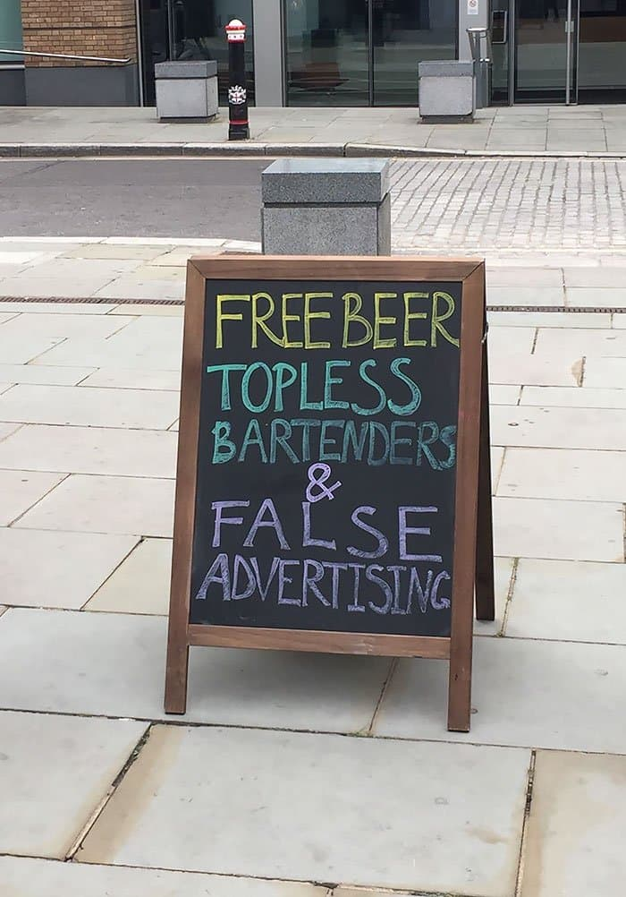 Genius Bars And Restaurants false advertising